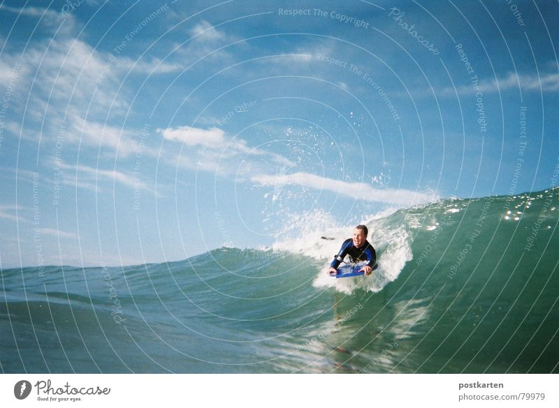 bodyboarding Surfing Ocean Waves Aquatics Water Blue sky aqueous