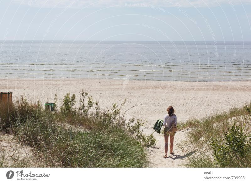 Human being Woman Vacation & Travel Summer Sun Ocean Landscape Beach Adults Coast Contentment Tourism Waves Trip Beautiful weather Baltic Sea