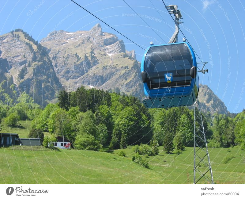 Sky Summer Forest Mountain Large Beautiful weather Vantage point Driving Village Switzerland Upward Gondola Pilatus