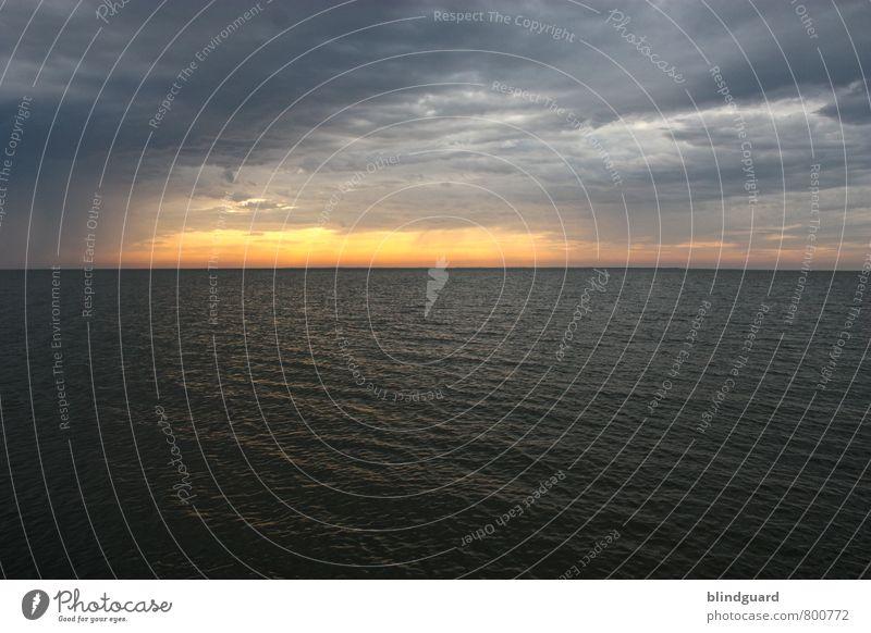 Sunset Superman Vacation & Travel Adventure Far-off places Freedom Summer Ocean Waves Aquatics Environment Nature Landscape Water Sky Clouds Horizon Sunrise