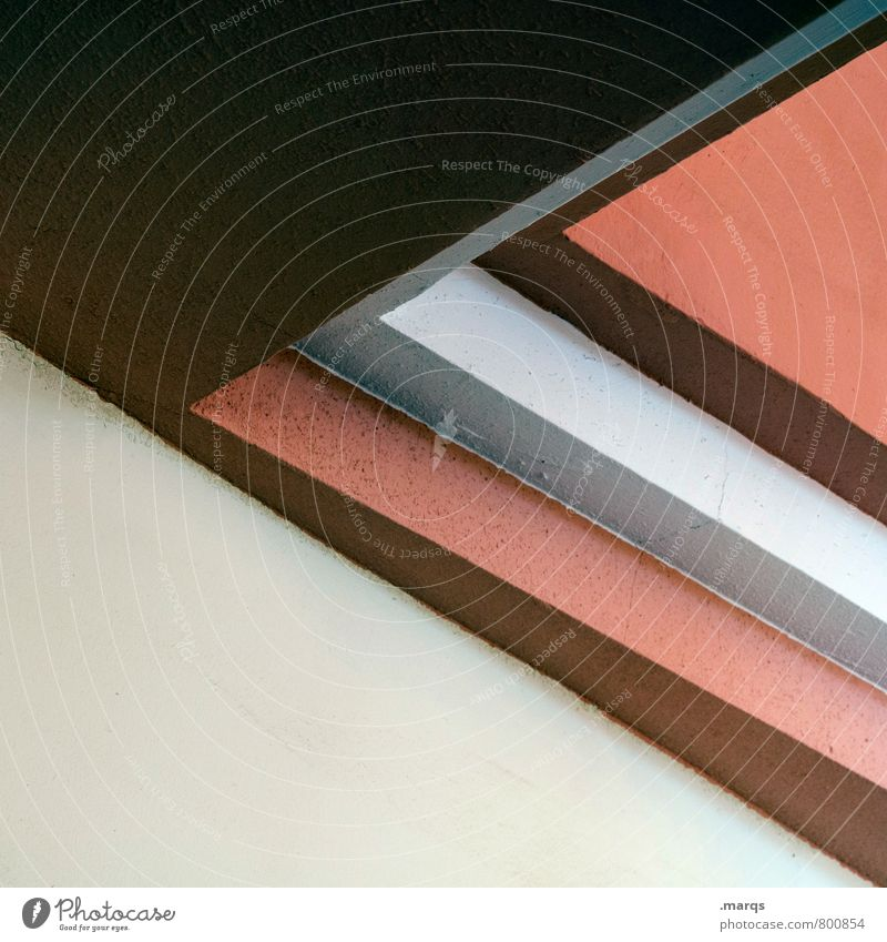 corner Elegant Style Design Interior design Architecture Line Sharp-edged Modern Beautiful Brown Gray Red White Arrangement Perspective Minimalistic