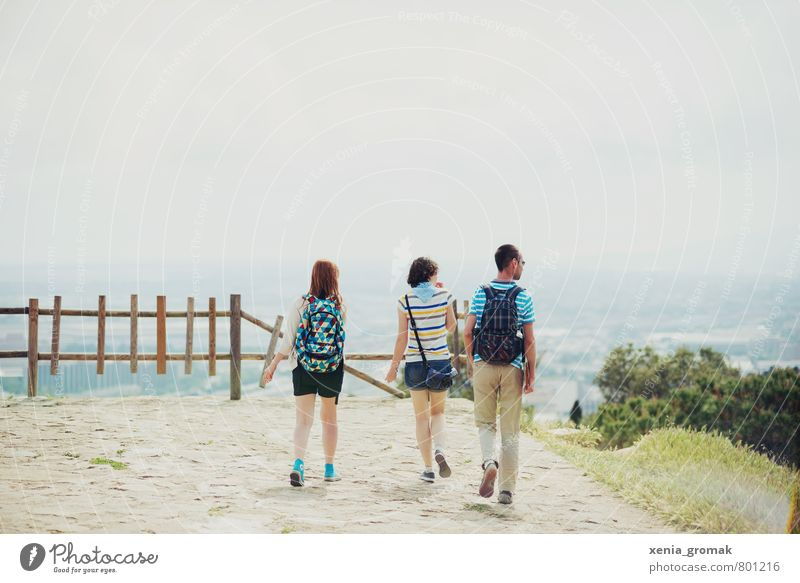 the view Lifestyle Leisure and hobbies Vacation & Travel Tourism Trip Adventure Far-off places Freedom City trip Summer Summer vacation Sun Mountain Hiking