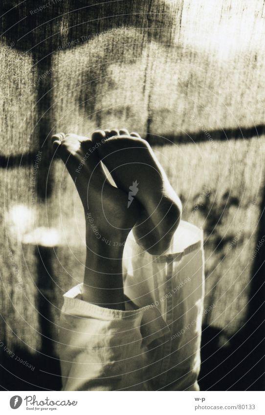 Human being Beautiful Joy Black Window Dark Happy Feet Brown Room Star (Symbol) Drape Barefoot Toes Sepia Go crazy
