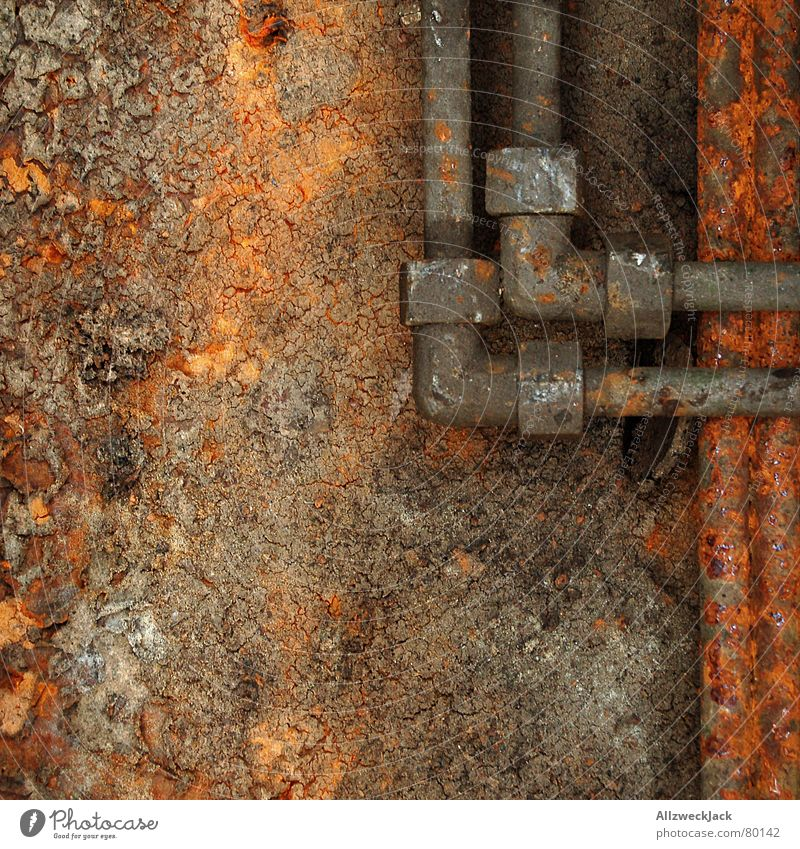 Old Red Fear Corner Point Derelict Rust Pipe Craft (trade) Transmission lines Pipeline Part Natural gas pipeline Sheepish Water pipe Customs