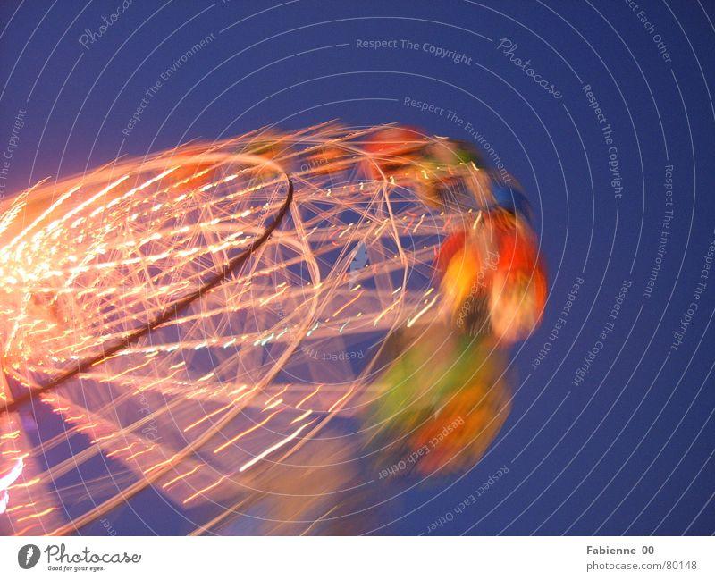 Ferris wheel Speed Multicoloured Light Moody Exterior shot Joy Happy Freedom