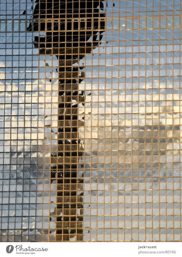 Sensuality of a TV-Tower City Colour Clouds Environment Line Above Horizon Illuminate Modern Glass High-rise Tall Fantastic Hope Capital city Landmark