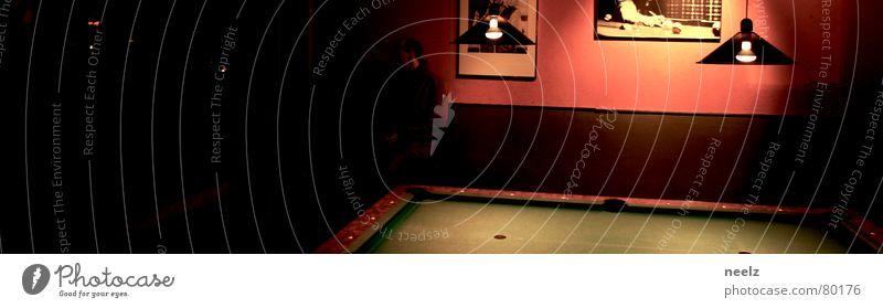 Green Lamp Playing Swimming pool Bar Gastronomy Sphere Pool (game) Felt Dim