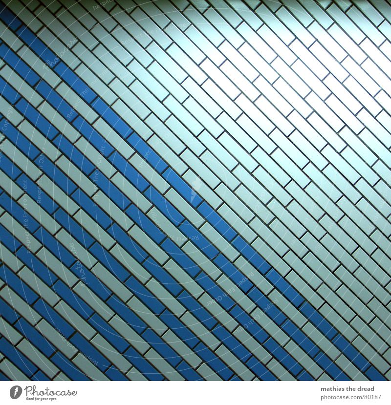 Blue Dark Wall (building) Bright Line Room Lighting Crazy Exceptional Paris Tile Square Tunnel Diagonal Division Geometry