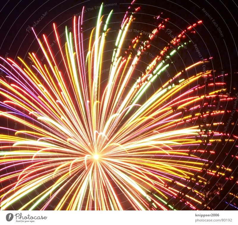 fireworks Light New Year's Eve Multicoloured Hot Dark Night Long exposure Firecracker Blaze Feasts & Celebrations Star (Symbol) Bright ´mitte Movement