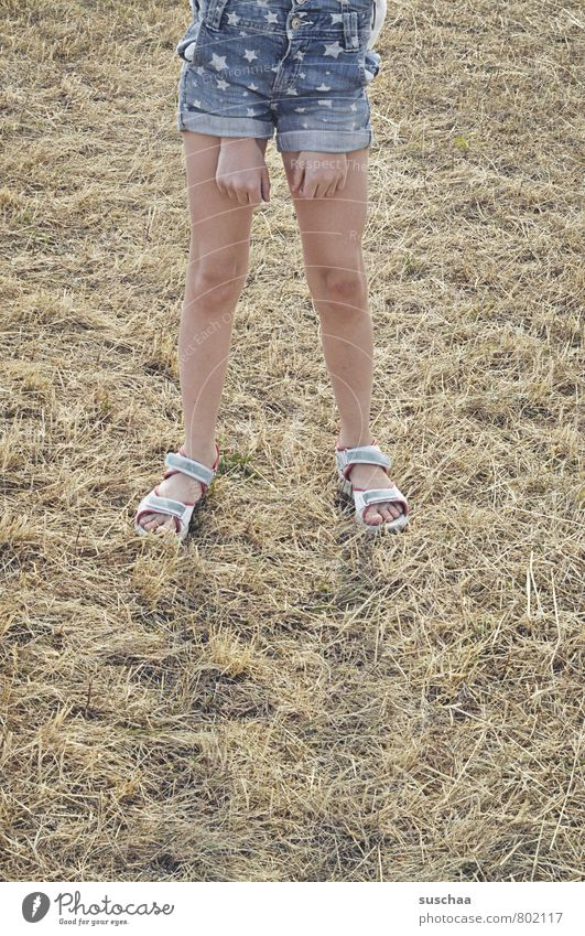 Human being Child Summer Hand Girl Joy Feminine Legs Feet Field Body Infancy Skin Crazy Happiness Fingers