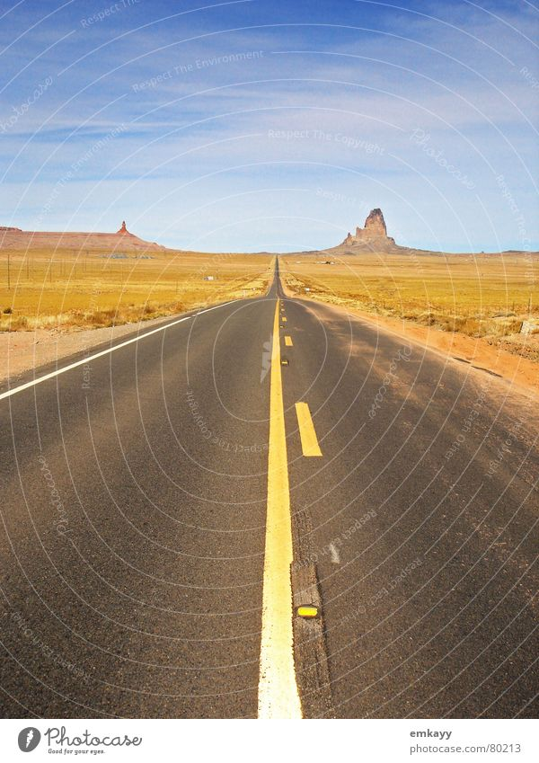 Sky Loneliness Street Mountain Landscape Horizon USA End Target Desert Asphalt Highway Direct Motoring Doomed Individual