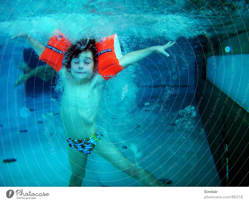 Human being Child Water Summer Joy Cold Sports Playing Underwater photo Jump Swimming & Bathing Masculine Fresh Bathroom Swimming pool Dive