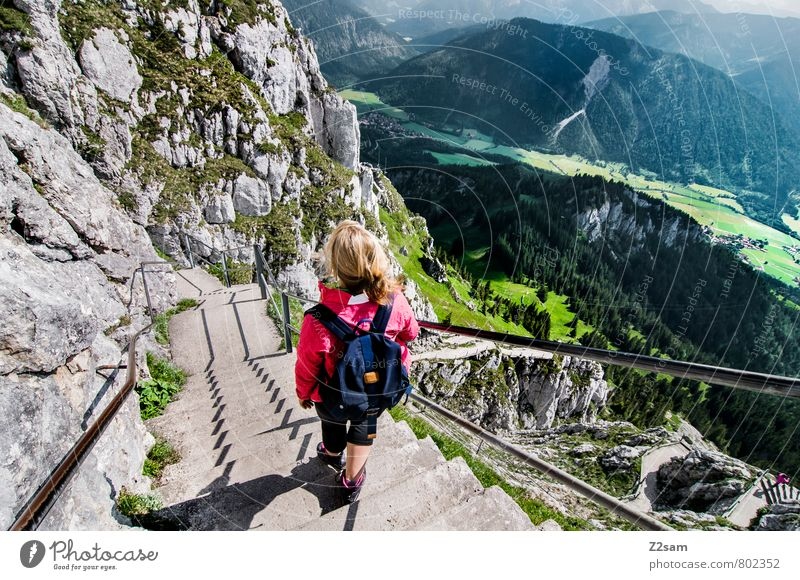 Sky Vacation & Travel Youth (Young adults) Relaxation Young woman Landscape Clouds 18 - 30 years Adults Mountain Feminine Natural Going Rock Leisure and hobbies