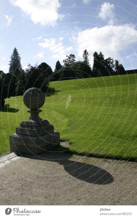 Powerscourt Gardens Part 2 Green Meadow Grass Tree Dublin Park Ireland Lanes & trails Stone Blue Sky Wicklow county powerscourt gardens