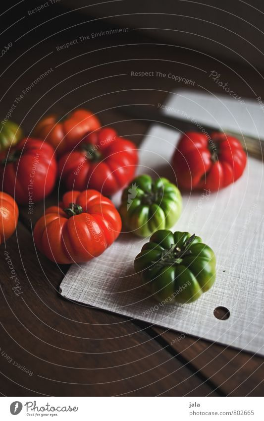 tomatoes Food Vegetable Tomato Nutrition Organic produce Vegetarian diet Knives Chopping board Healthy Eating Fresh Delicious Natural green tomatoes Green