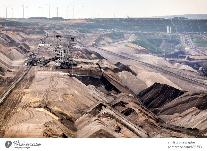Open pit mining near Jüchen Work and employment Economy Industry Energy industry Machinery Energy crisis Environment Climate change Environmental pollution