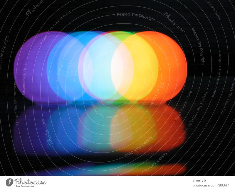 Black Colour Round Sphere Long exposure Rainbow