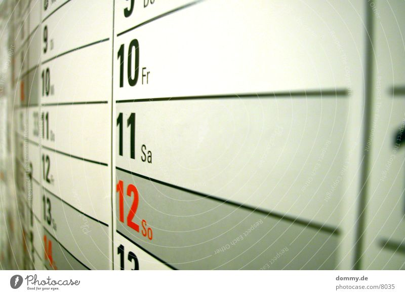 Red Gray Digits and numbers Box Year Calendar Month