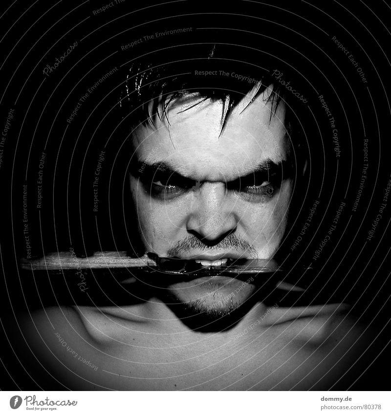 Man Black Eyes Dark Death Wood Skin Nose 3 Dangerous Circle Threat Teeth Lips Illness