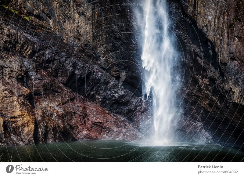 cooling down Vacation & Travel Trip Adventure Environment Nature Landscape Elements Water Beautiful weather Rock Waterfall Sharp-edged Fluid Large Wet Movement