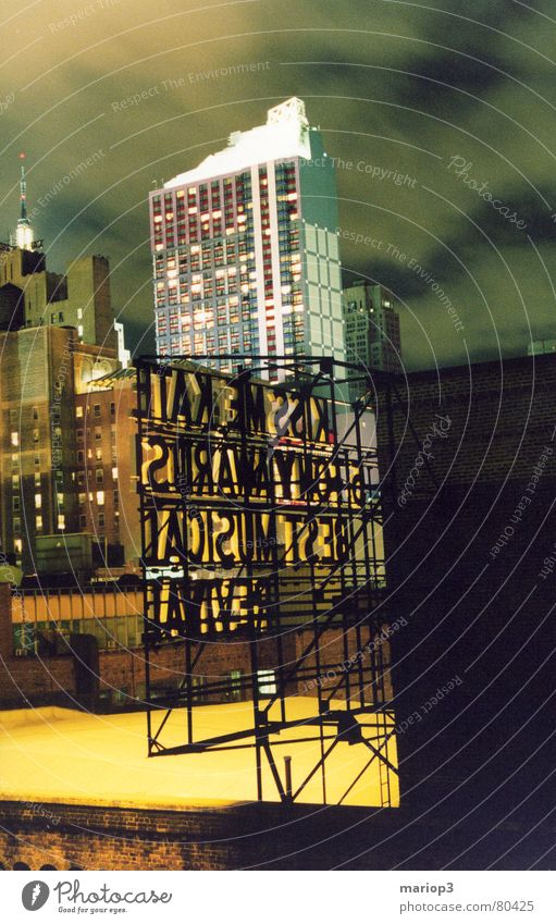 City Joy Freedom High-rise USA Advertising Middle Americas Skyline Downtown Quarter New York City Manhattan Old town