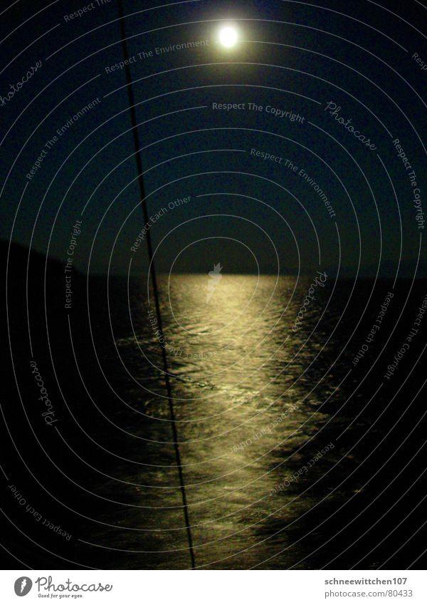 Ocean Vacation & Travel Calm Lake Leisure and hobbies Sailing Moon Turkey Mediterranean sea Sports Moonlight