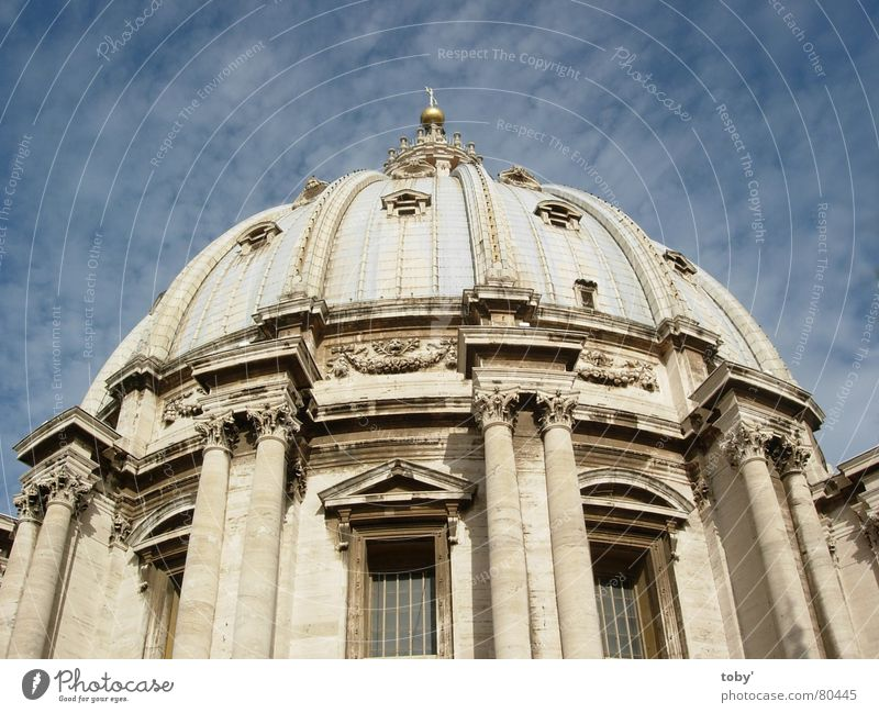 Sky Clouds Religion and faith Italy Rome God Deities Domed roof House of worship Vatican St. Peter's Cathedral