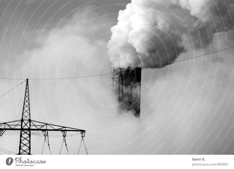 Going Fog Environment Industry Energy industry Electricity Future Technology Factory Science & Research Smoke Environmental pollution Steam Electricity generating station Socket High voltage power line