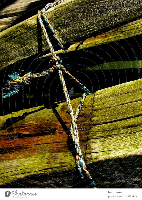 Tied up Green Triangle Wood Concentrate Power Force Might Joist old knot beams shadows Shadow Rope