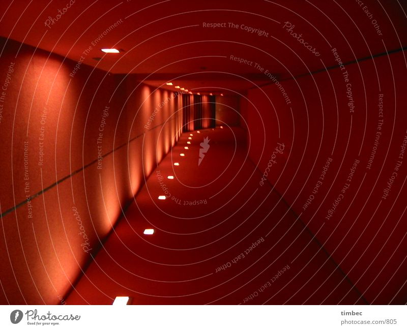Red Dark Wall (building) Lamp Architecture Lighting Empty New Interior design Hallway Carpet Corridor Passage Right ahead