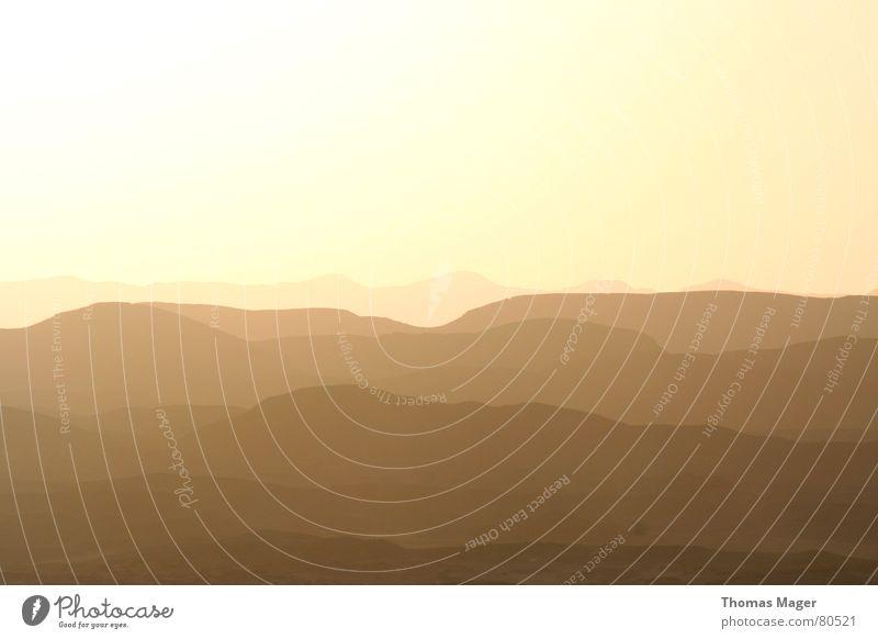 Sun Far-off places Dark Mountain Sadness Landscape Perspective Gloomy Vantage point Africa Desert Hill Dusk Badlands