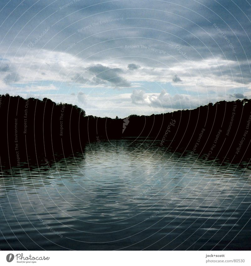 The Song of the Crooked Lanke Calm Clouds Climate change Forest Lakeside Grunewald conceit Fresh Black Moody Longing Loneliness Idyll Inspiration Time Bend Scan