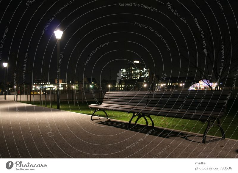 Loneliness Dark Berlin Garden Lanes & trails Park Bright Free Empty Dangerous Bench To go for a walk Threat Clean Pure Train station