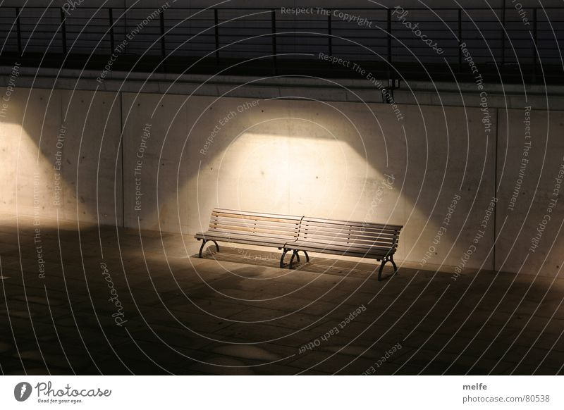 Loneliness Dark Sadness Lighting Gloomy Bench Creepy Traffic infrastructure Doomed Eerie Remote