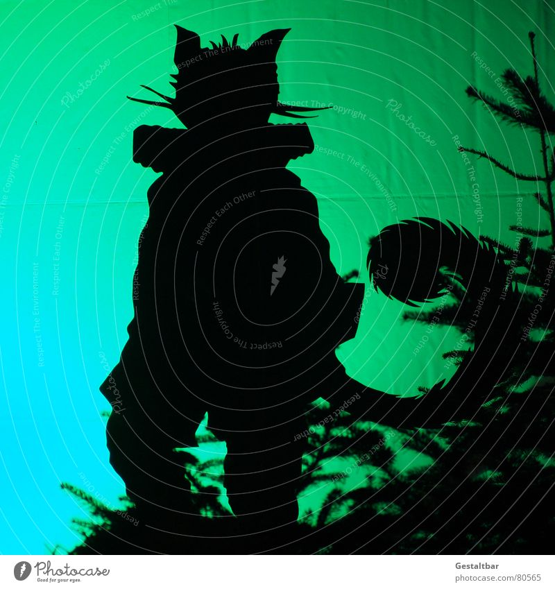 Puss in Boots Fairy tale Silhouette Animal Tails Pelt Fantastic Fairytale landscape Formulated Art Culture fairy tales and legends fab Domestic cat Shadow