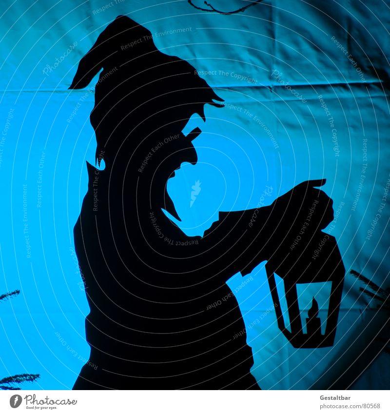 One of 7 dwarves Goblin Dwarf Fairy tale Silhouette Lamp Santa Claus hat Eyeglasses Fantastic Fairytale landscape Formulated Art Culture Shadow