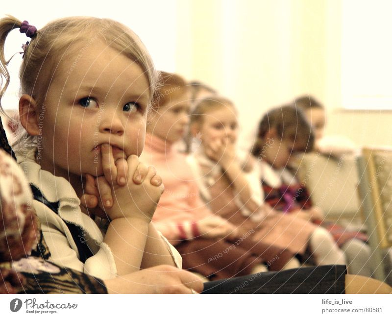i_have_time Child Time Gloomy Offspring Watchfulness Concentrate Peace little girl neat clothes in the church fold your hands waste time be bored
