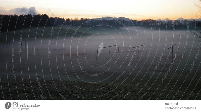 Dark Meadow Moody Fog Lucerne Canton Bern Allmend Stadium