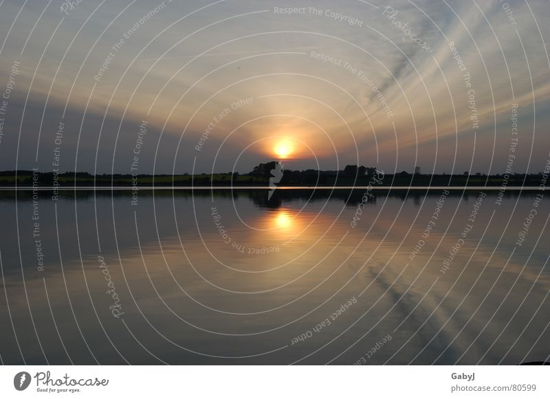 Nature Water Sky Summer Calm Lamp Relaxation Lake Power Going Horizon Energy industry River Romance End Mirror
