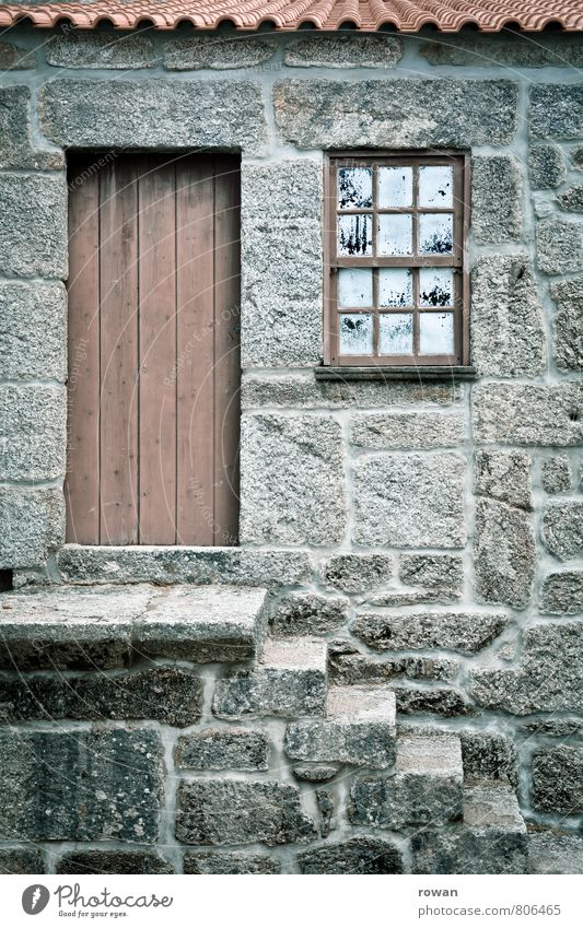 Old House (Residential Structure) Window Wall (building) Architecture Wall (barrier) Building Stone Facade Stairs Door Roof Manmade structures Hut Entrance