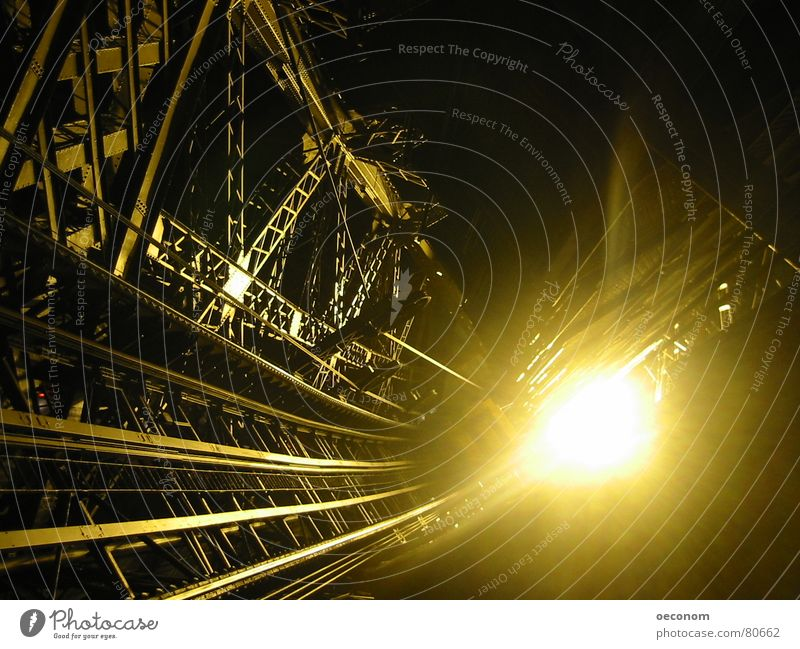 Dark Cold Warmth Lamp Bright Glittering Stairs Gold Industry Level Clarity Deep Monument Landmark Steel Paris