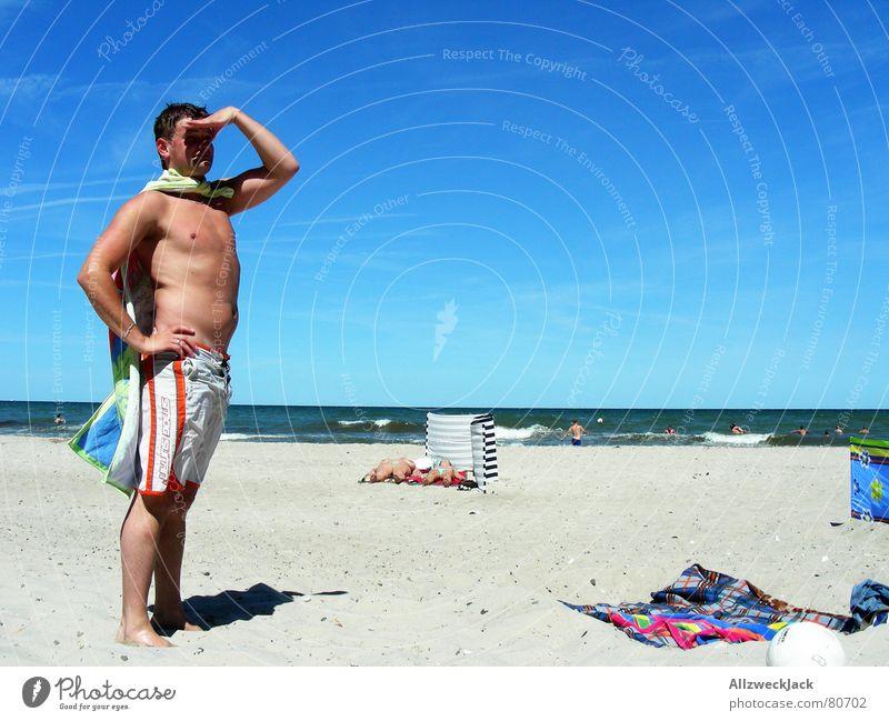 Man Blue Water Beautiful Sun Ocean Beach Joy Clouds Playing Coast Sand Wind Masculine Multiple Search