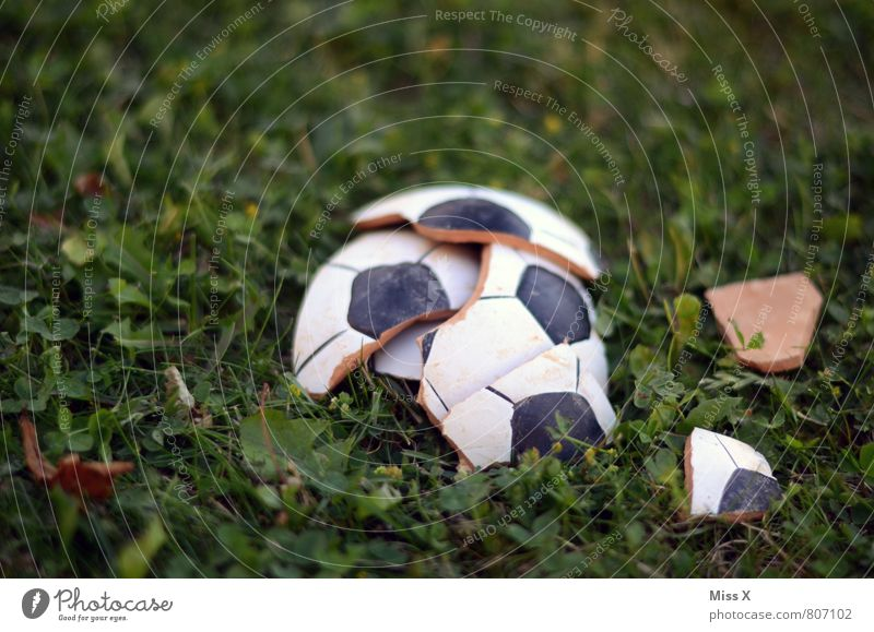 over Sports Ball sports Sporting event Loser Foot ball Sporting Complex Football pitch Grass Meadow Broken Emotions Moody Sadness Distress Popular belief Anger