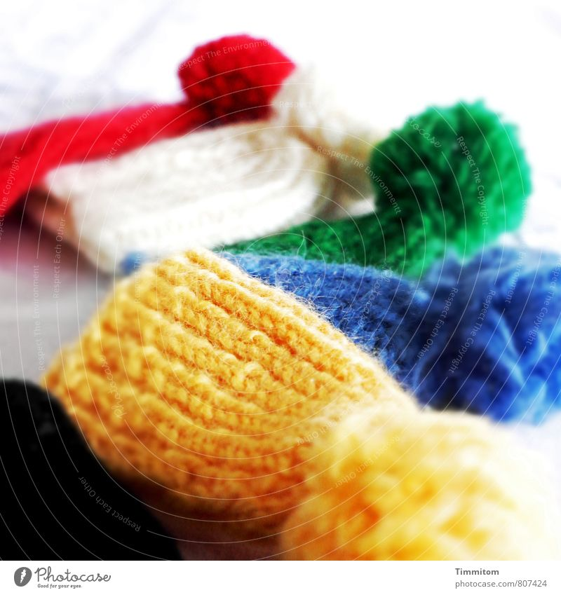 Blue Green Colour White Red Black Yellow Emotions Lie Living or residing Wait Esthetic Simple Memory Wool Knitted