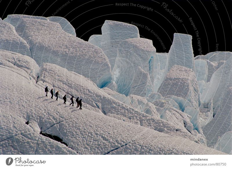 White Blue Winter Snow Mountain Ice Glacier Alaska Ice climbing