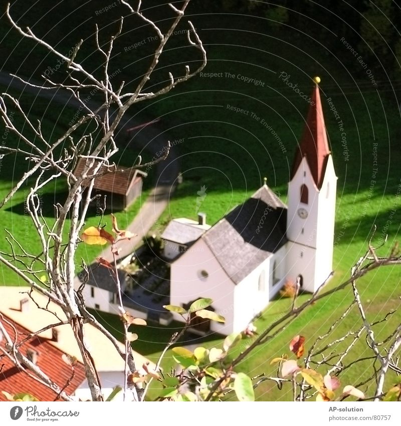 village church Village Branchage Toys Bird's-eye view Village church Religion and faith Prayer Federal State of Tyrol House of worship Contentment Nature