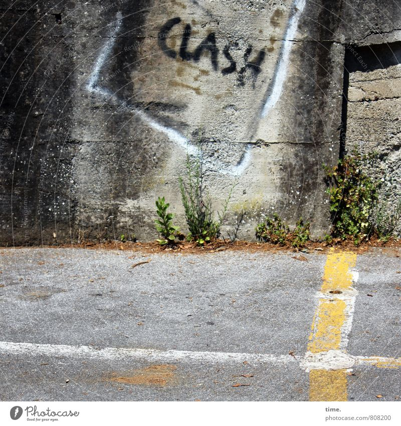 au Plant Wall (barrier) Wall (building) Transport Traffic infrastructure Street clash Stone Concrete Sign Characters Signs and labeling Signage Warning sign