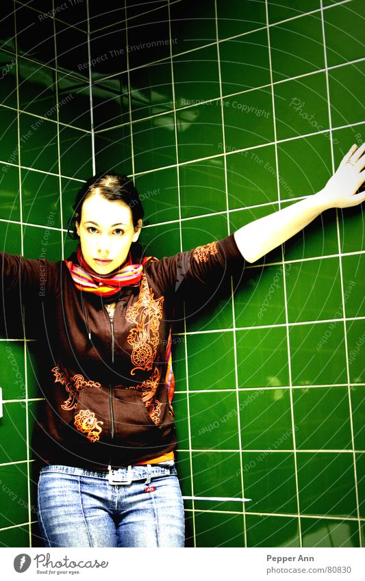 Green Brown Fear Crazy Corner Jeans Tile Panic Scarf Soul