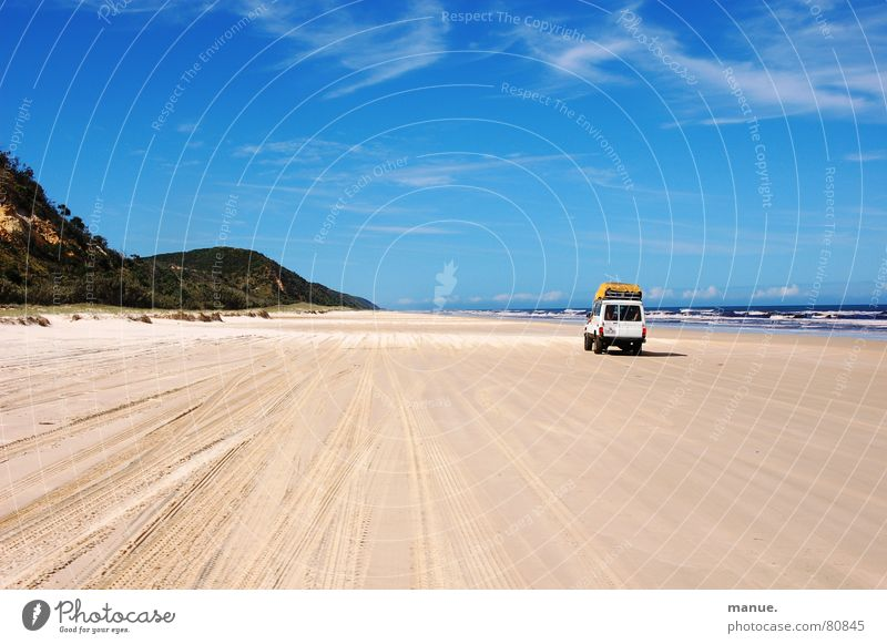 Don't swim and drive Unforgettable Ocean Fraser Island Fraser river Speed limit Exciting Australia Horizon Events Infinity In transit Vacation mood Experience
