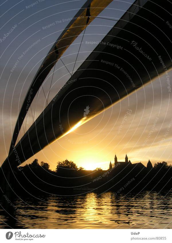 Gold Bridge River Netherlands Arch Maas Maastricht